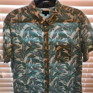 Slim J Crew beach shirt